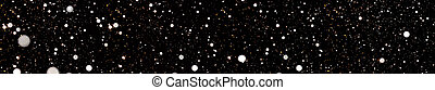 white snowflakes on a black background.