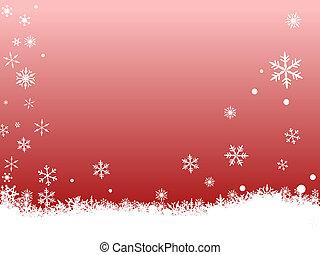 White SnowFlakes on Red