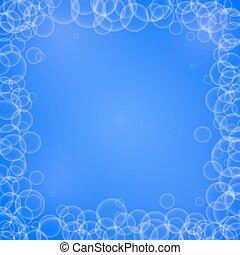 White soap air bubble frame