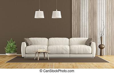 White sofa in modern living room
