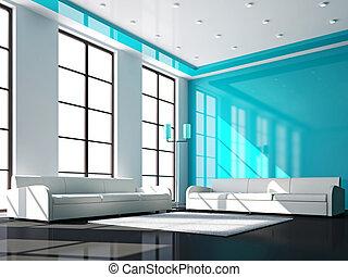 White sofas in the livingroom