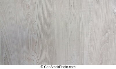 White soft wood surface as background. 4k video.