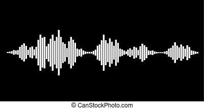 White sound waves
