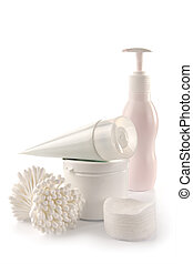 White spa and hygiene accessories-faultless cleanliness, ...