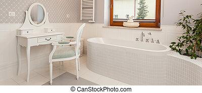White spacious bathroom