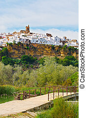 Medieval Town - White Spanish Medieval Town on the Hill