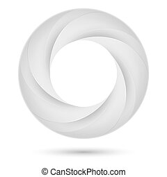 White spiral ring. Illustration on white background