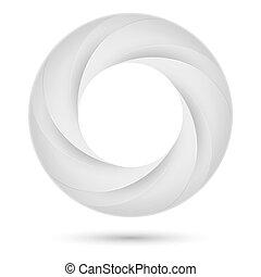White spiral ring. Illustration on white background