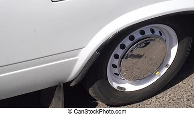 White Sport Car Wheel.silver wheels
