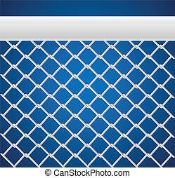 White Sport net for games on blue background