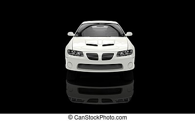 White Sports Car Front