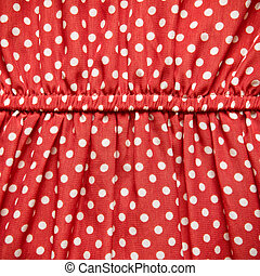 White Spot on Red Fabric Texture