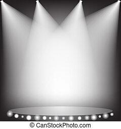 spotlights - White spotlights on stage