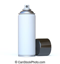 White spray can with black cap 3D