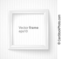 White square 3d photo frame with shadow