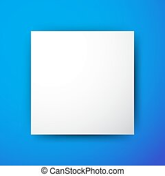 White Square on Blue Background