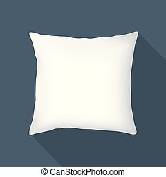 white square pillow, cushion vector illustration