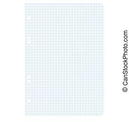 White squared blank white paper sheet.