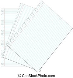 White squared notebook paper