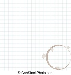 White squared paper sheet. Vector illustration