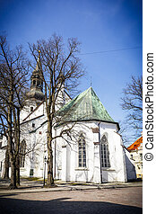 White St Mary`s Cathedral in Tallinn, Estonia