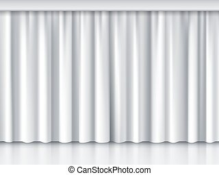 White stage curtain