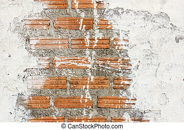 white stain brick wall background texture