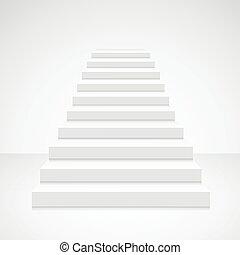 White Staircase Blank. Vector