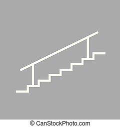 white staircase icon