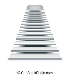 Vector illustration of a white staircase