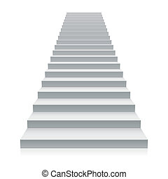 White staircase - Vector illustration of a white staircase