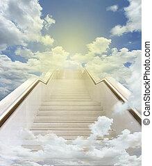 white stairway to heaven background