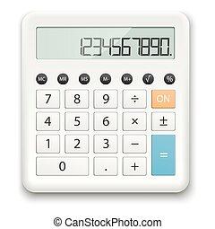 white standard calculator - white calculator with standard...