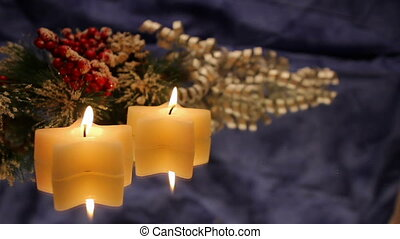White star Christmas candles
