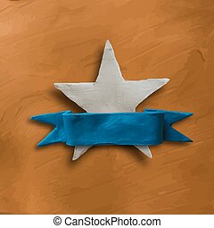 White star on gold background