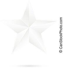 White star on white