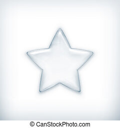 White star, vector