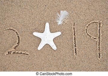 white starfish for New Year 2019