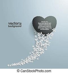 White Stars Dust Black Heart