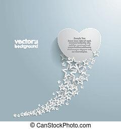 White Stars Dust White Heart - White stars with white heart ...