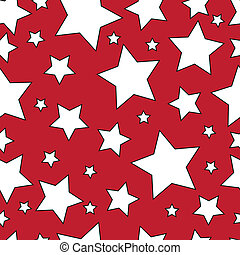 White stars on a red background.Seamless