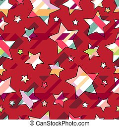 White stars on a red background.Seamless.Vector