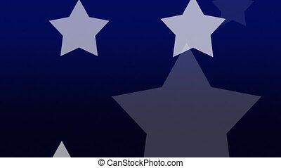 White Stars on Blue Loop
