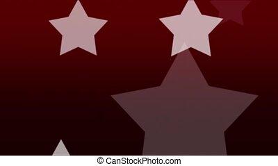 White Stars on Red Loop