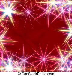 white stars over red background