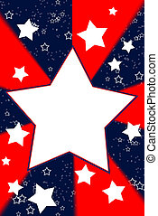 White stars, red & blue background - White stars on a ...