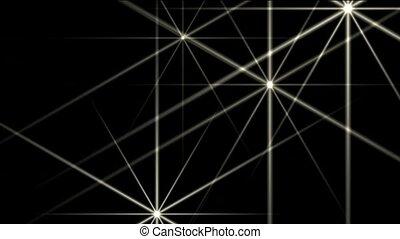 white stars,disco ray light