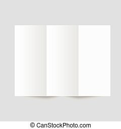 White stationery blank trifold paper brochure - White...