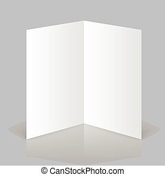 Open magazine - White stationery blank twofold paper ...