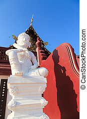 White statue in Chiang Mai, Thailand